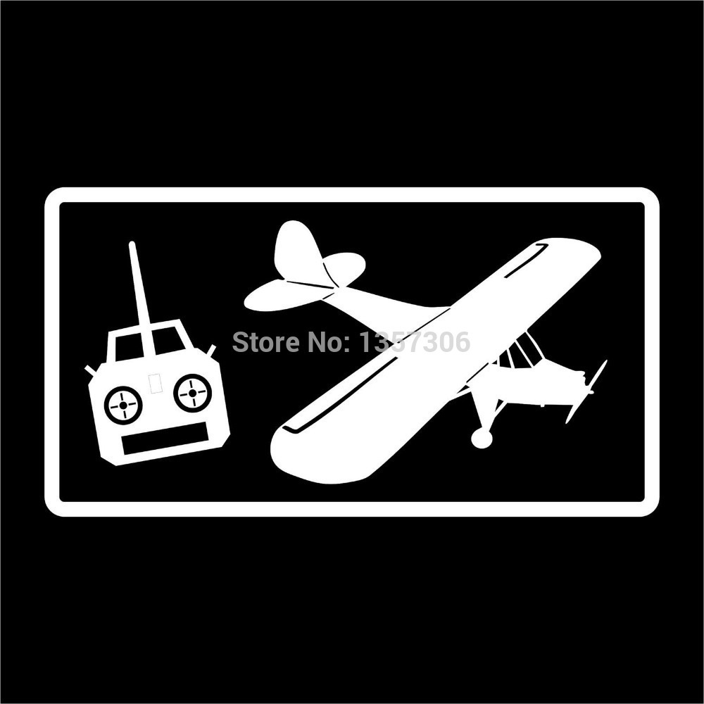 Wholesale 50 pcs/lot Radio Control Airplane Rc Pilot Vinyl Sticker Decal Car Window 9 Colors