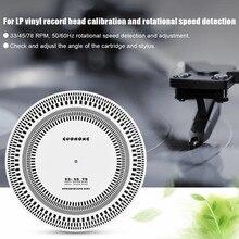 Akcesoria gramofonowe profesjonalna winylowa płyta długogrająca gramofony gramofonowe gramofon kalibracja stroboskop Disc 33/45/78 RPM 50/60Hz