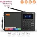 GTMEDIA D1 портативный цифровой радио FM стерео/RDS многодиапазонный радио динамик с ЖК-дисплеем будильник из Великобритании Германии Itlay