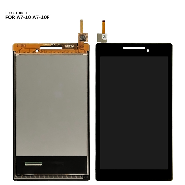 For Lenovo Tab 2 A7-10 A7-10F A7-20 A7-20F LCD display touch screen digitizer Glass assembly with Frame