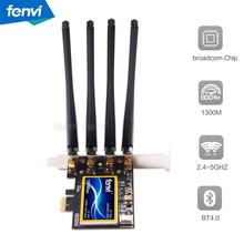 FV-T919 Dual band 802.11AC Desktop Wifi Card 802.11 A/B/G/N/AC Broadcom BCM94360 Wireless Bluetooth 4.0 Mac OSX+ PC/Hackintosh(China)