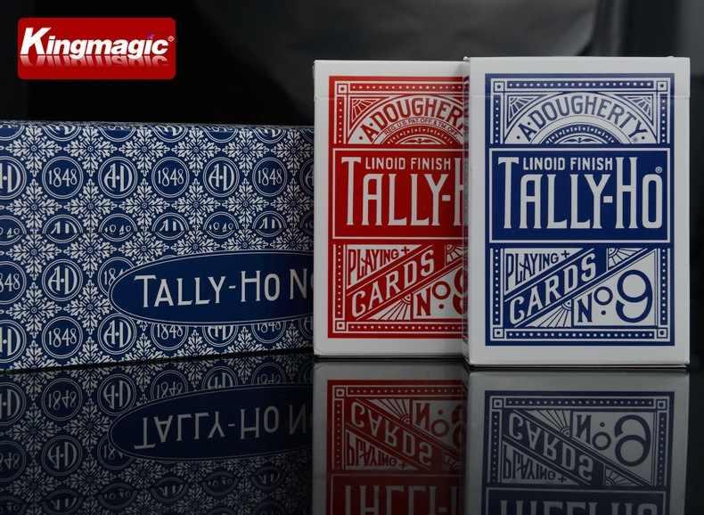 1 шт. оригинальный Tally-Ho № 9 Poker Fan Back или Round Back игральные карты магический реквизит волшебные игрушки волшебные трюки карточная колода