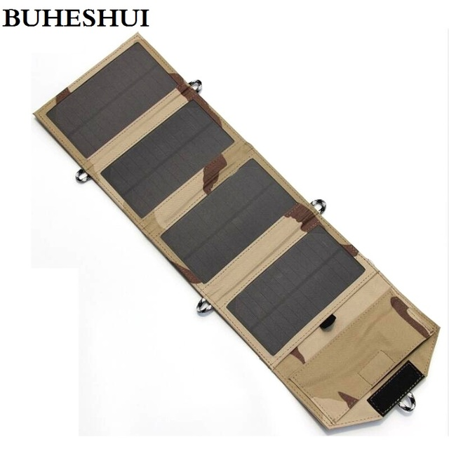 BUHESHUI 7.2W Portable Solar Charger for Mobile Phone iPhone Solar Panel Charger Foldable Solar USB Battery Charger High Quality