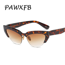 Wholesale PAWXFB 2019 Cat Eye Women Sunglasses Fashion Hand Made For Female Vintage Ladies Eyewear (A lot 3 Pieces)
