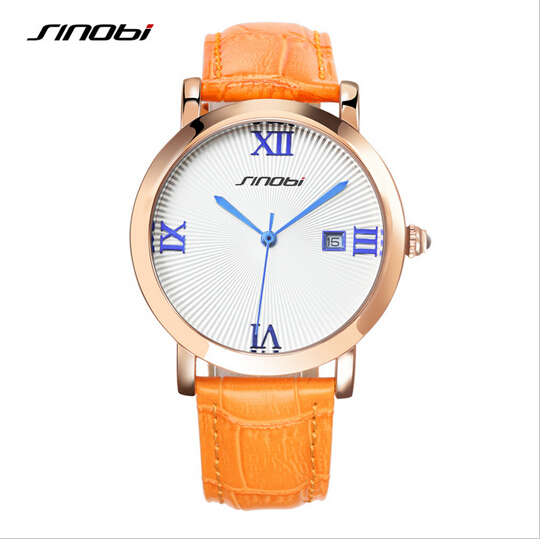 SINOBI Watch Women Watches Top Brand Auto Date Women's Watches Roman Numerals Ladies Watch Clock Relogio Feminino Montre Femme 2016 good top brand relogio feminino date day clock female stainless steel watch women relogio feminino montre femme jn7