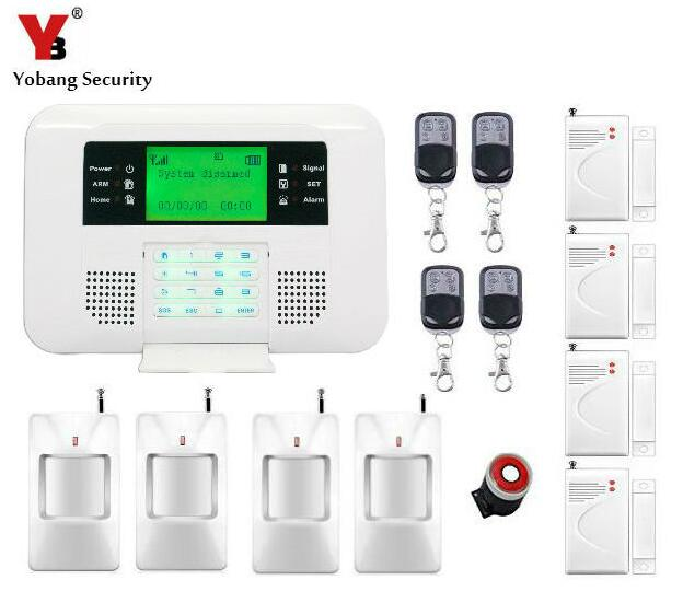 Yobang Security 433MHz Wireless Arm Disarm GSM PSTN alarm home store anti-thieft alarm system Telephone Line PSTN Alarm System yobang security gsm pstn alarm 433 mhz wireless home security door window sensor detector telephone line pstn alarm system