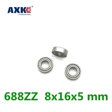 купить Free shipping 10pcs ABEC-3 688zz L-1680zz 8x16x5 Mm Deep Groove Ball Bearing Miniature Bearing High Quality 688z по цене 147.85 рублей