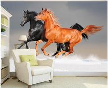 3d personalizado photo wallpaper 3d wallpaperBeautiful run horse photography fondo de pantalla 3d para habitación