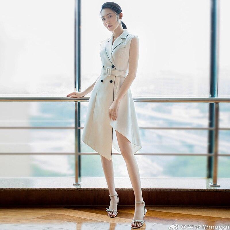 a7e8ae71a8b94 Bouton Mode Blanc Femmes Haute Vintage Travail Bureau Partie Piste Qualité  Nouvelles De Sexy Courtes Sequin Élégant Robe ...