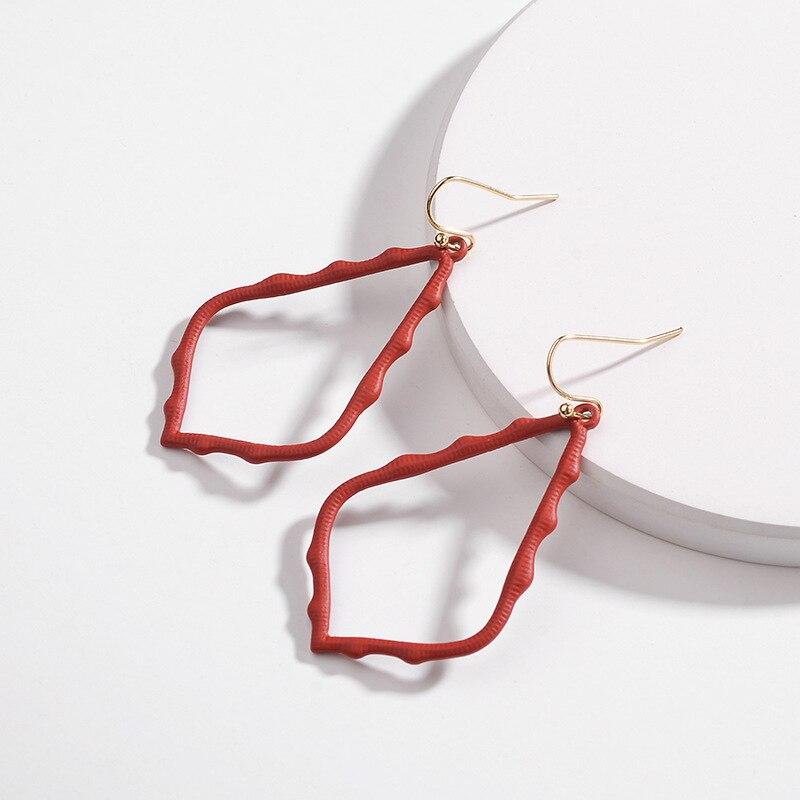 15 Colors Designer Frame Teardrop Earrings for Women Fashion Jewelry Painting Metal Water Drop Earrings Statement Earrings 23