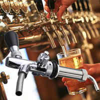 Stainless Steel G5/8 Beer Faucet Adjustable 4 Inch Draft Beer Faucet Shank With Chrome Plating Tap Dispenser Homebrew Barware
