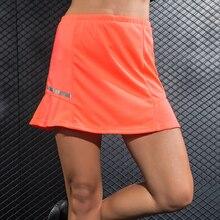 Tennis Skirt Women Solid Reflective Strip Quick Dry Skort Skirt Sport for Beach Volleyball Running Jupe Culotte Golf Skirt
