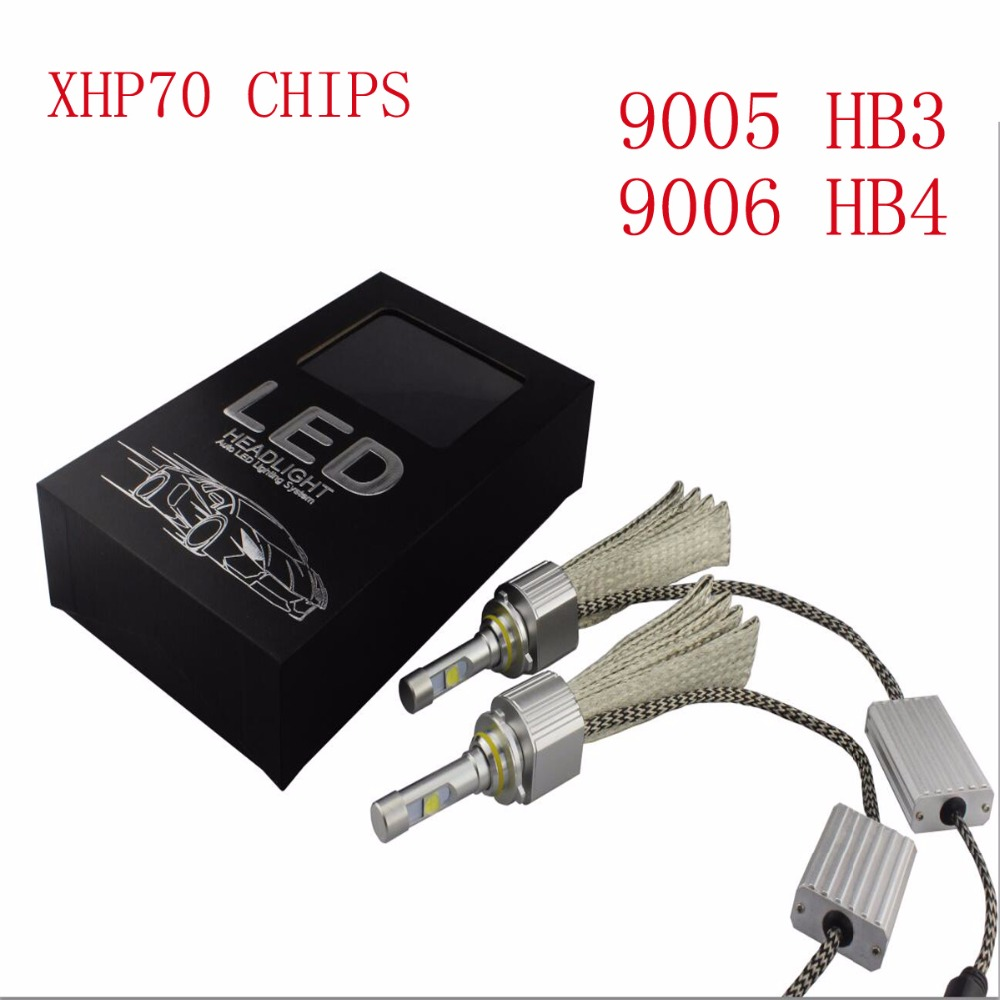 TOYIKIE 1set 9005 HB3 9006 HB4 110W 13200Lm CREE CHIPS XHP-70 LED Headlight H4 H8/H9/H11 9012 Car LED Headlight Fog Lamp kit z8 cree chips 60w 3200lm led car headlight 9006 hb4