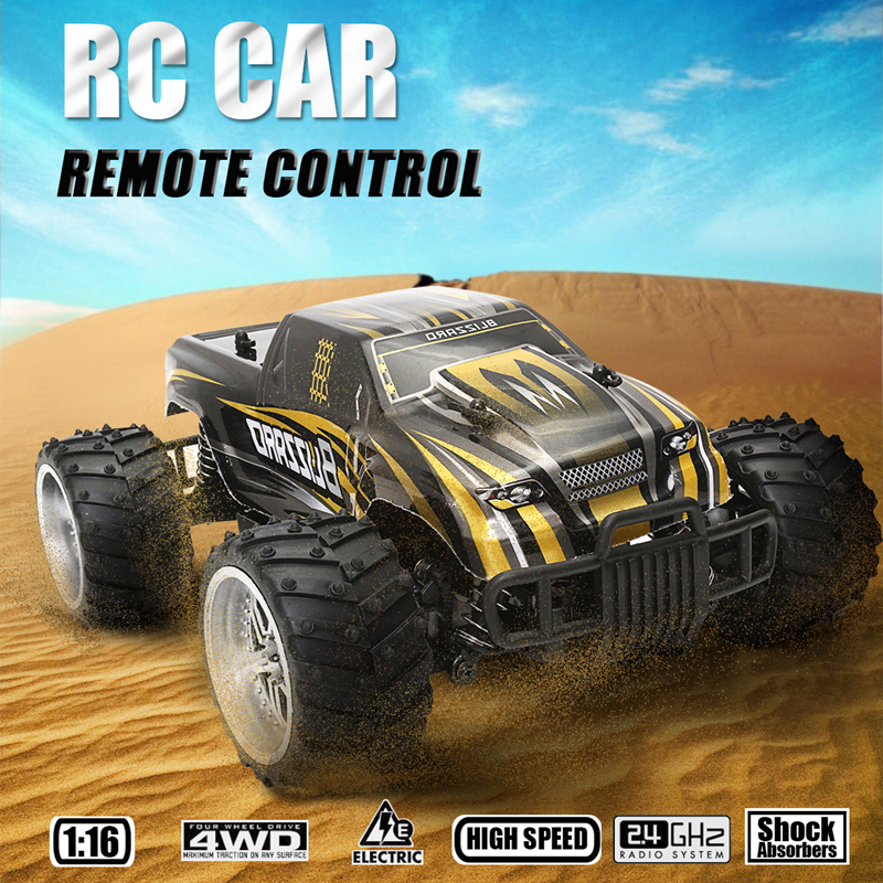 1/16 Scale 2WD 2.4GHz High Speed Radio Remote Control RC Crawler Racing Buggy Car Off Road Truck RTR Gift Toy for Children Kid rc electric toy car 1 24 l333 high speed off road buggy radio remote control rtr rock rover rc toy model child best gift toy