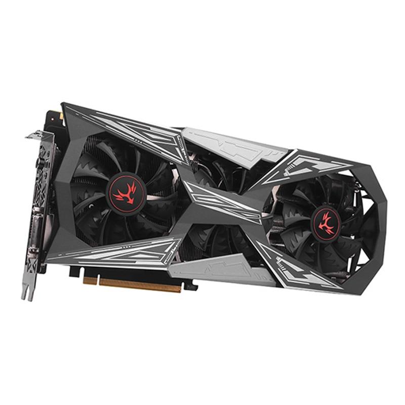 Красочные IGame GeForce GTX 1070 Ti вулкан X Топ игр Графика карты 8 г 256bit GDDR5 PCI Express 3,0 двумя вентиляторами GTX1070 Ti КАРТЫ