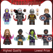 Super Heroes Marvel Avengers Endgame Iron Man Thanos Thor War Machine spiderman Captain America Hulk Building Blocks toys X0263(China)