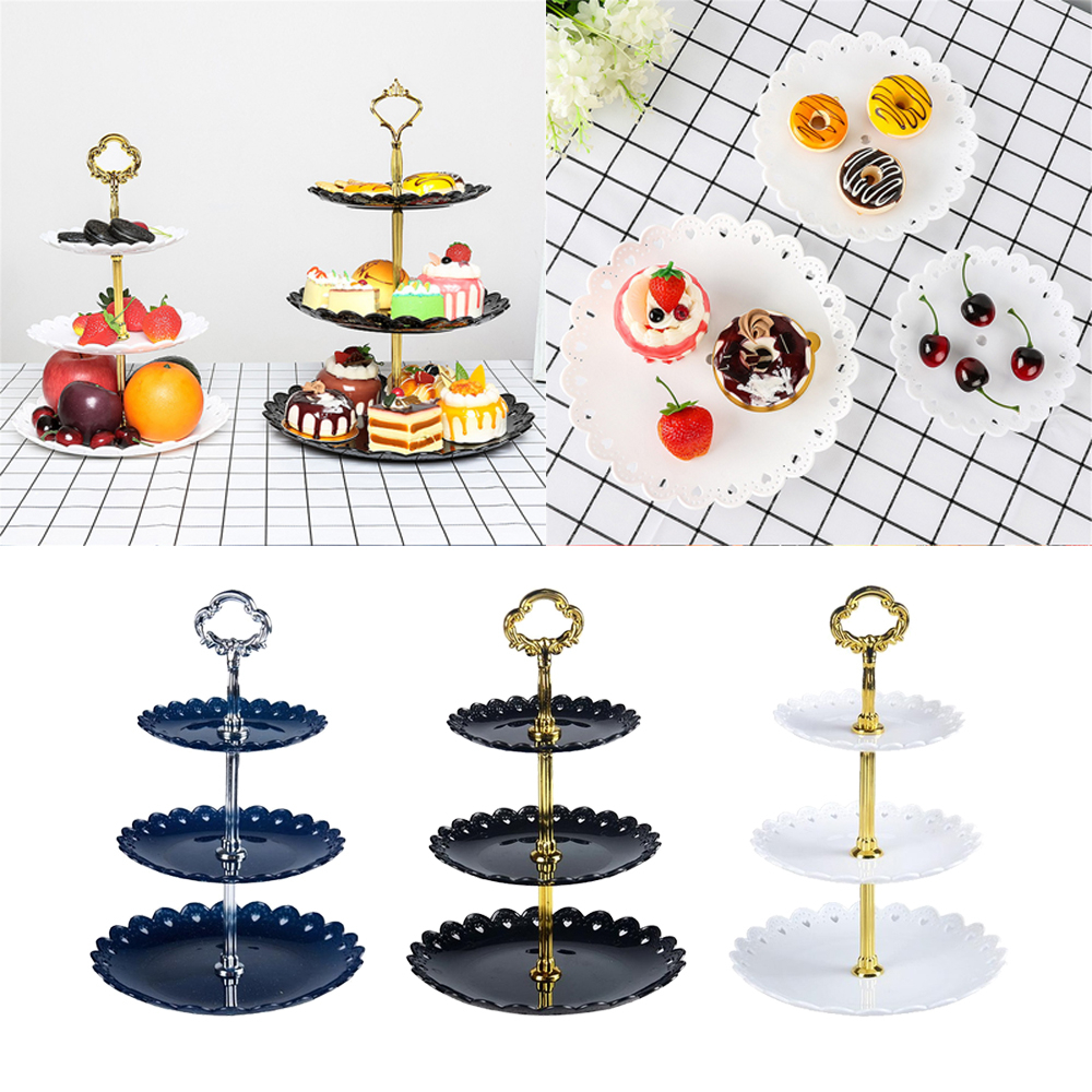 1set 3 Layers Cake Stand Wedding Cake Plate Stand Dessert Fruits Vegetable Placed Tool Wedding Birthday Party Cupcake Stand