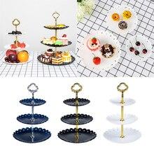 1 набор, 3 слоя, подставка для торта, тарелка для свадебного торта, подставка для десерта, фруктов, овощей, инструмент, подставка для кексов на свадьбу, день рождения, вечеринку
