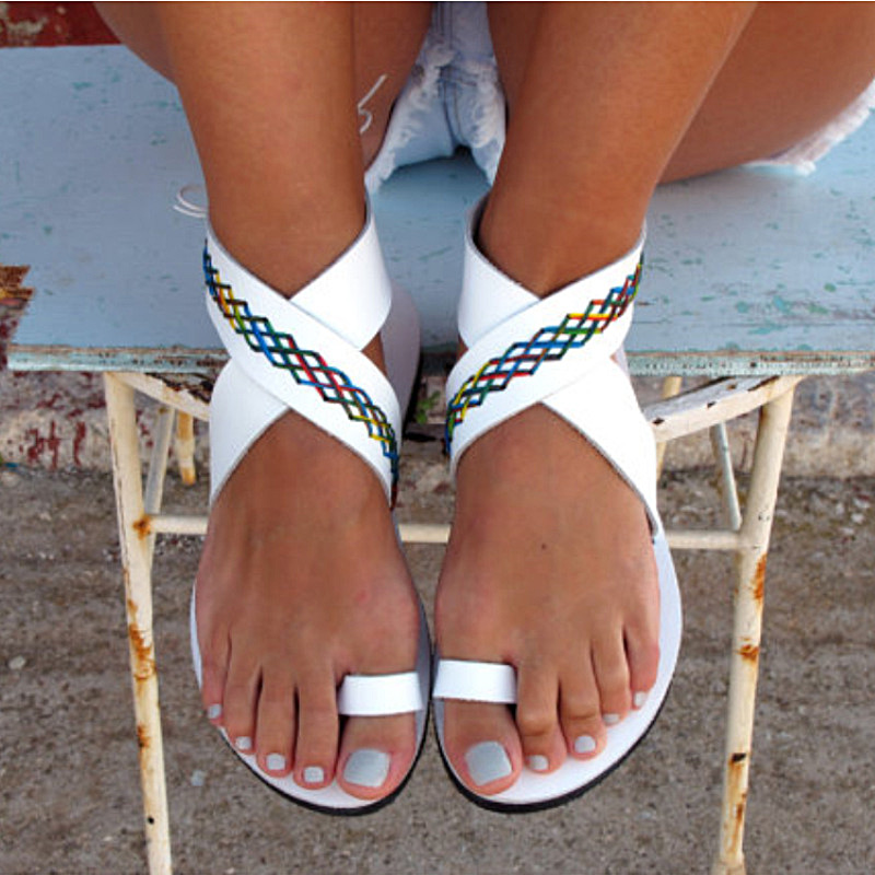 New Women Sandals 2019 Summer Flat Sandals Casual Women Slippers Fashion Flip Flops Roman Women Shoes Black Plus Size SandaliasNew Women Sandals 2019 Summer Flat Sandals Casual Women Slippers Fashion Flip Flops Roman Women Shoes Black Plus Size Sandalias