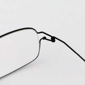 Square glasses frame ultralight myopia eyewear men Pure Hand made eyeglasses Optical Frame oculos de grau with original case