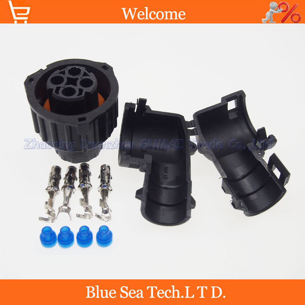 AMP/TE 4 Pin 1-967325-3 Auto Sensor plug with sheath for Car,oil exploration,railway etc,Waterproof IP67/69