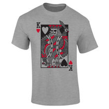 Mens Evil King Of Hearts Playing Cards T-shirt S-XXL New T Shirts Funny Tops Tee Unisex