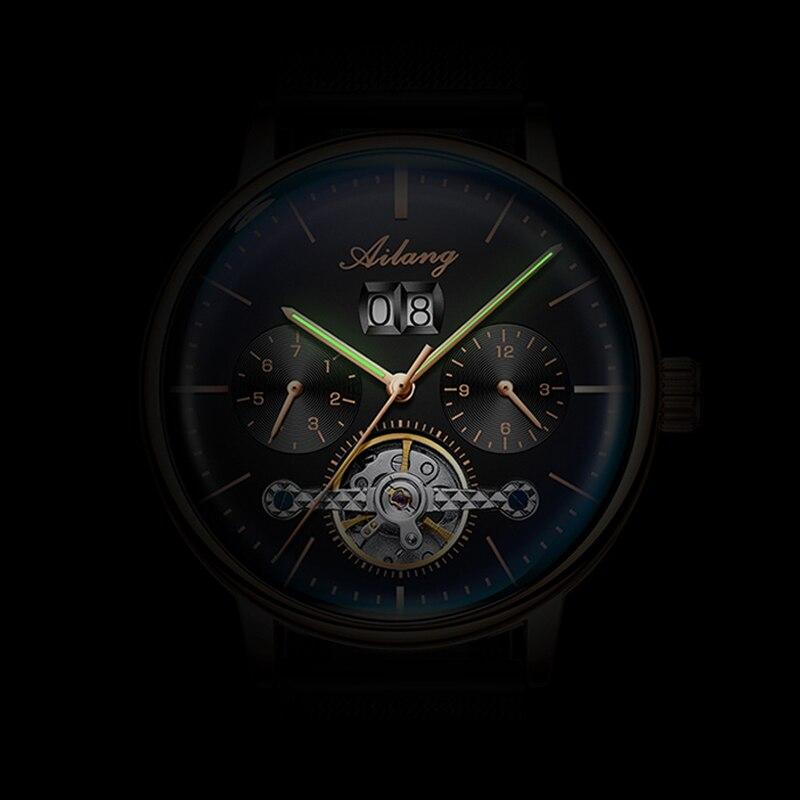 2019 nuevo reloj automático AILANG reloj mecánico para hombre relojes de turbillon impermeables luminosos Steampunk de lujo reloj masculino - 4