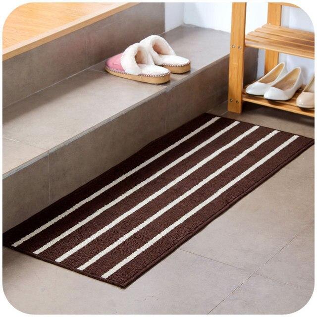 Shaggy PP Large Long Stripe Kitchen Mats Anti slip For Floor Mat ...