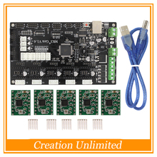 3D Printer Parts Latest MKS Gen V1.4 control board Mega 2560 R3 motherboard RepRap Ramps1.4 compatible with USB and 5PCS A4988