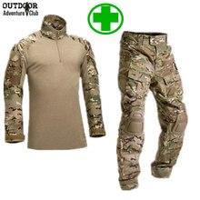 Форменной боевая брюки-карго multicam военной наколенники армия военная камуфляж тактический охота