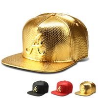 The new Crocodile Grain letter A baseball cap flat -brimmed hats hip-hop hat wholesale influx of people