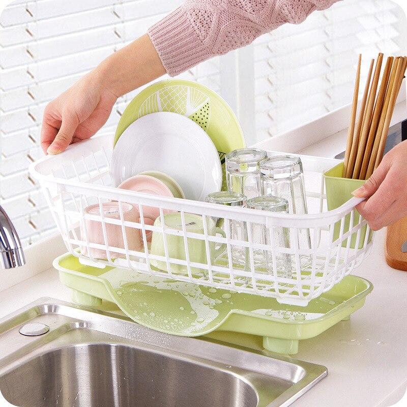 Kitchen Dishes Draining Rack Plastic Cupboard Chopsticks Tableware Storage Box Drying Rack Dishes Shelves