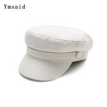 Hats Newsboy-Hat Military-Cap Flat-Cap-Spring Navy Octagonal Women Cotton for Female