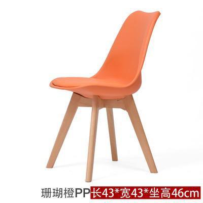 Простой современный домашний стул для столовой задний офисный стул креативный твердый деревянный Северный стул - Цвет: 8