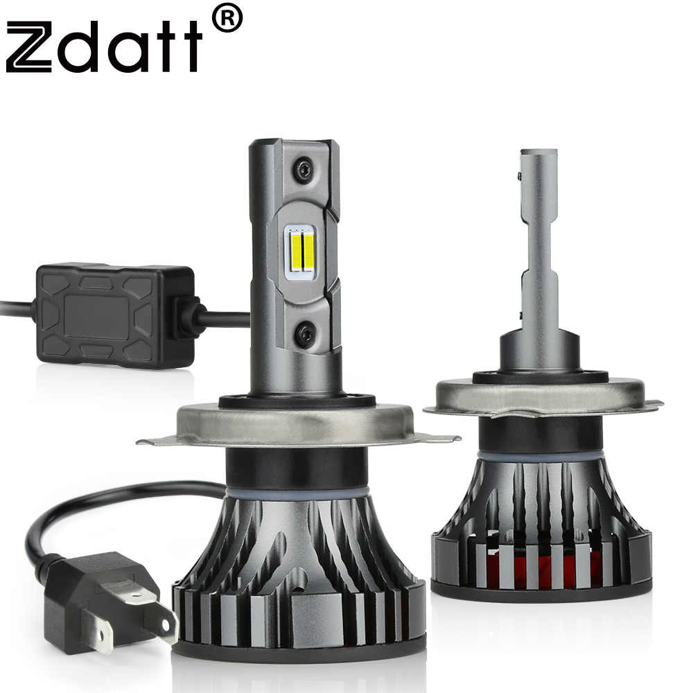 Zdatt Car Led Light H11 H7 Led Bulb H4 H1 Canbus H8 H9 9005 HB3 9006 HB4 Headlights 100W 12000LM 12V 6000K Automobiles Auto Lamp
