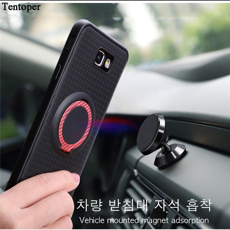 För Samsung S9 S8 Plus A5 A3 A7 2017 J520 J7 Bilhållare Stativ Magnetiskt sugfäste Bilstativfodral För Huawei Honor 6X