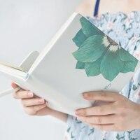 Notebook Creative Schedule Book A5 Efficiency Handbook Flower Message Leather Notepad Diary Organizer Office School Supplies