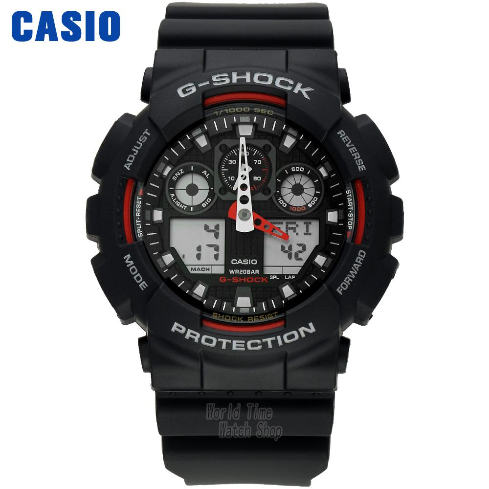 Casio watche fashion electronic fashion sports anti-earthquake GA-100-1A4 casio ga 100mc 1a4