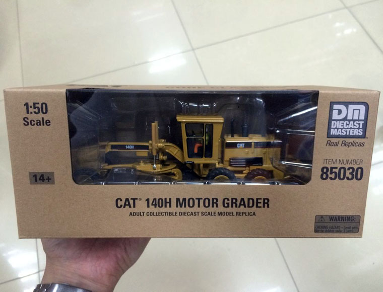 New Packing - Caterpillar Cat 140H Motor Grader 1/50 Scale DieCast 85030 By DM Construction vehicles