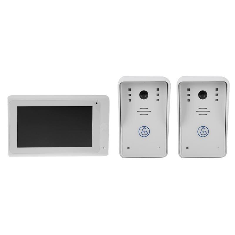 New Video Doorbell Monitor With 1000TVL Outdoor Camera Door Phone Intercom System Night Vision Wireless Door Bell door intercom video cam doorbell door bell with 4 inch tft color monitor 1200tvl camera