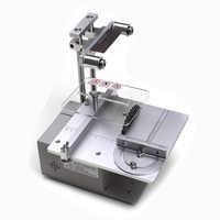 Pilarka stołowa Micro piła łańcuchowa wielofunkcyjny Mini maszyna do cięcia DIY do obróbki drewna piły precyzyjne pulpit Cutter stolarskie piła