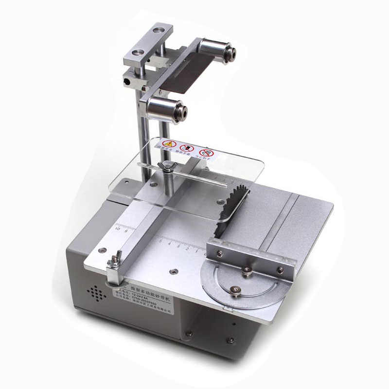 Table Saw Micro Gergaji Multi Fungsi Mini Mesin Pemotong DIY Woodworking Gergaji Presisi Desktop Cutter Pertukangan Melihat