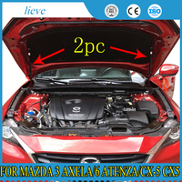 For mazda 3 Axela/6 atenza/cx 5 cx5 refit front hood Engine cover supporting Hydraulic rod Strut spring shock Bars bracket