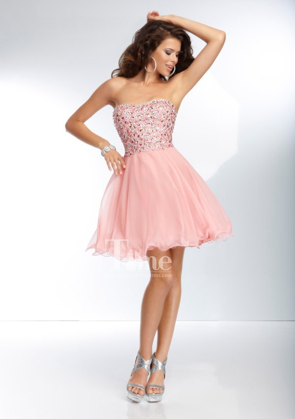 Aliexpress.com : Buy Pink/yellow/light blue homecoming dresses ...