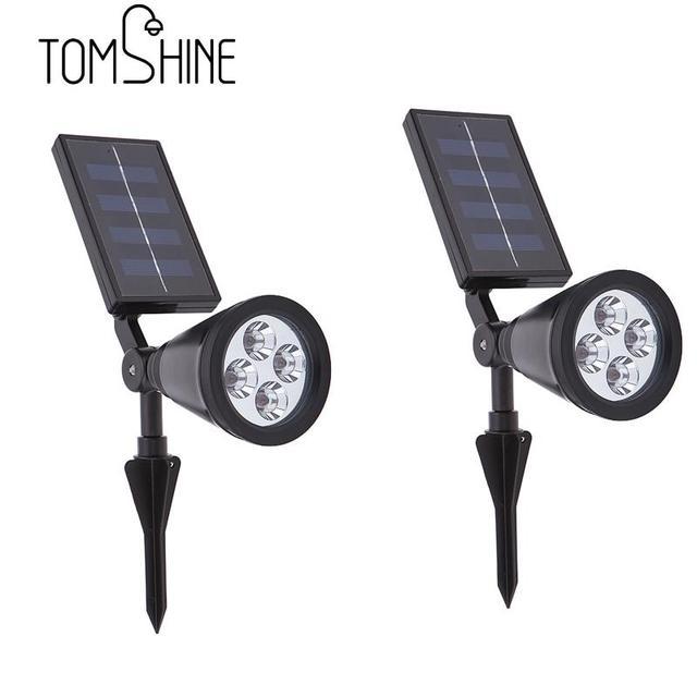 2017 New Arrival 4 LED Solar Powered Light Lamp Outdoor Lighting Wall Lamp Light For Home Garden Decoration Modern LED Lawn Lamp