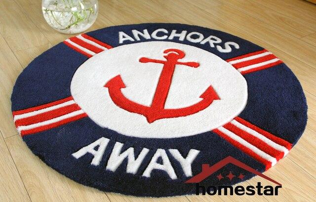 kids mat room blue children nautical beach navy handmade home anchor item playing rug carpet round decorative rugs