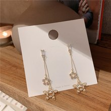 MENGJIQIAO New Korean Luxury Zircon Circle Drop Earrings For Women Elegant Pearls Jewelry Fashion Party Accessories Oorbellen(China)