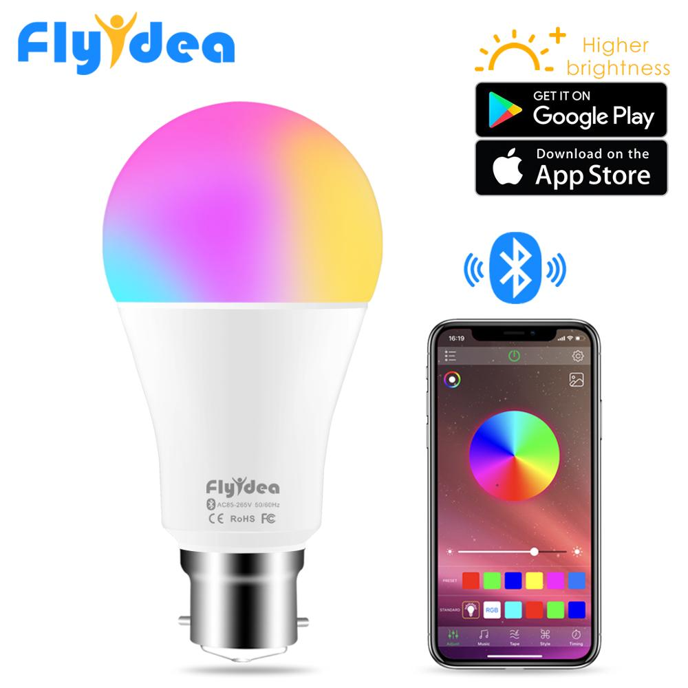 Smart LED Wireless Bluetooth Light Bulb B22 10W RGB Color Changing Lights Adjustable AC 85-265V APP Control IOS/Android Lampada
