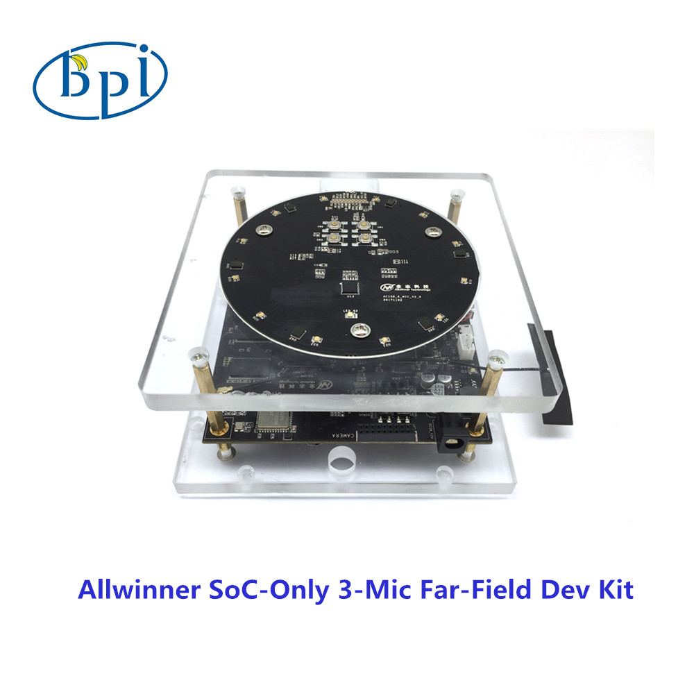 Allwinner official development <font><b>board</b></font> with Allwinner <font><b>SoC</b></font>-Only 3-Mic Far-Field Dev Kit image