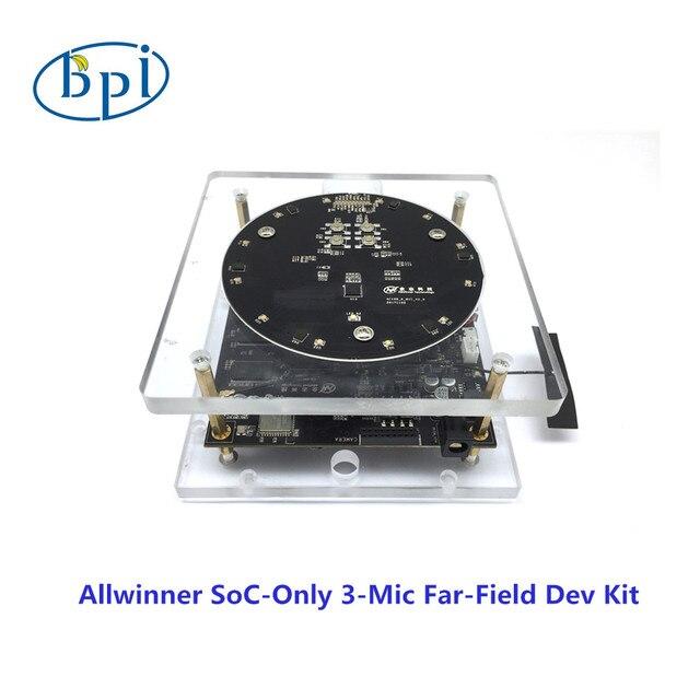 Placa de desenvolvimento com Allwinner SoC Allwinner oficial-Apenas 3-Mic Far-Dev Kit de Campo